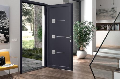 Les portes d'entrée de la gamme PVC
